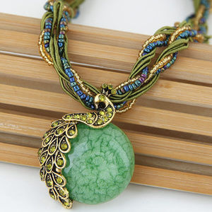 Jewelry - !!3/25!!  FULL MOON ANTIQUE NECKLACE (GREEN)